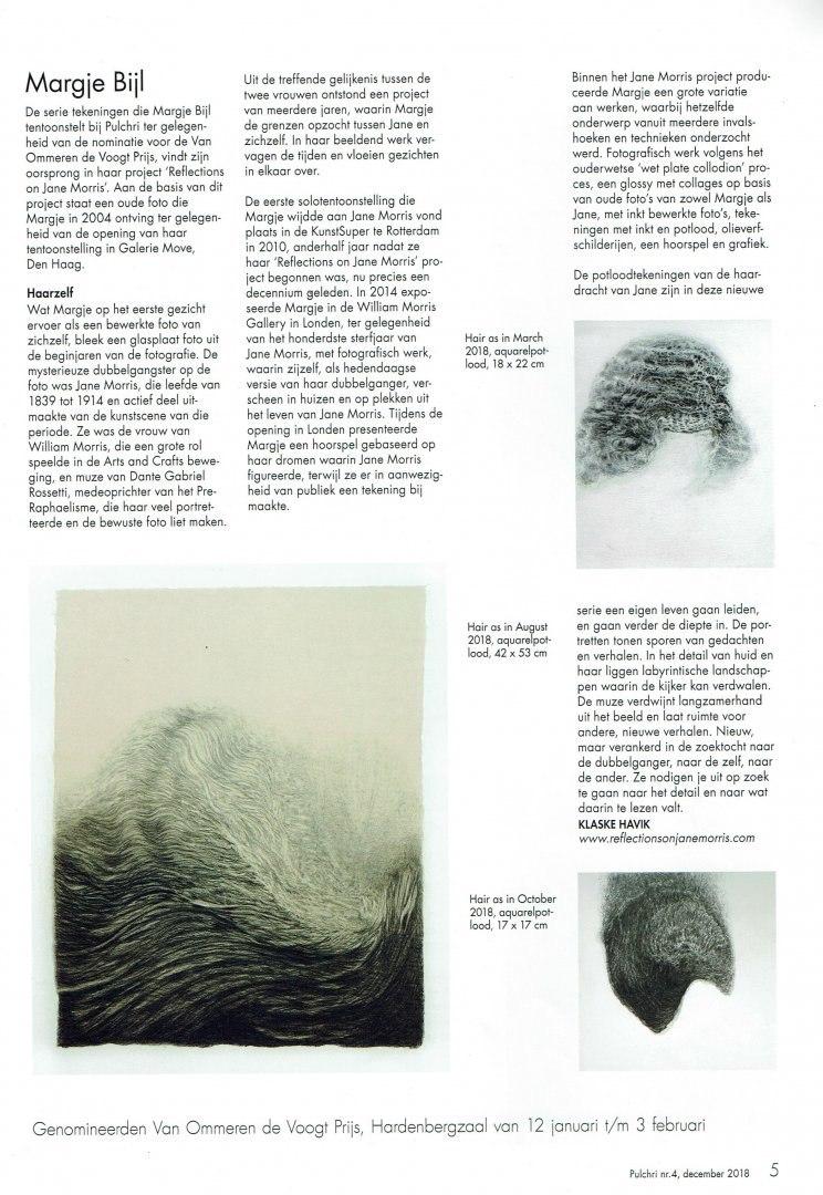 Pulchri Magazine, 'Haarzelf', Klaske Havik