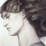 Jane Morris, 1865, Rossetti, drawing