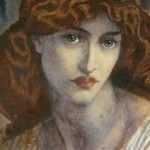 The Salutation of Beatrice II, Rossetti, Jane Morris, painting