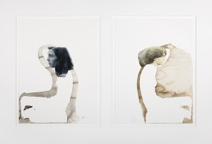 Transposed onto the blank canvas, John Robert Parsons, Sipco Feenstra, Margje Bijl, Jane Morris, photograph, drawing, collage, ink