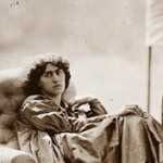 seated in a marquee, John Robert Parsons, Rossetti, Jane Morris, Album, photographs, wet collodion, albumen, Emery Walker, May Morris