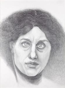 Margje Bijl, Jane Morris, aquarel pencil, drawing