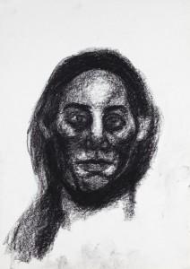 Flickering light, 2013, charcoal, drawing, Margje Bijl