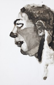 Keep a blind eye, 2013, Margje Bijl, ink, drawing