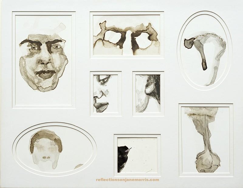 contemporary drawing, tekenkunst, inkttekening, tekening, Jane Morris, Margje Bijl, portret, portrait, inkdrawing, hedendaagse tekenkunst, drawing, portret, portrait, bistre, coronaclosure, corona, coronaclosedartgallery, coronalockdown